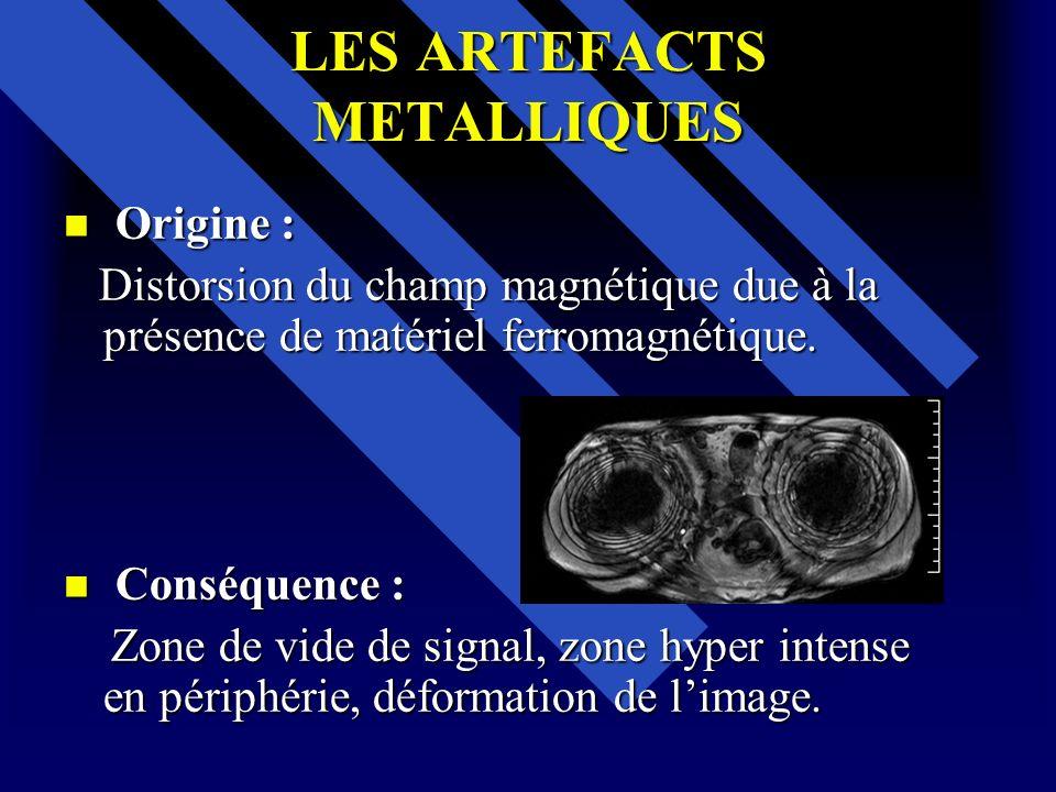 LES ARTEFACTS METALLIQUES