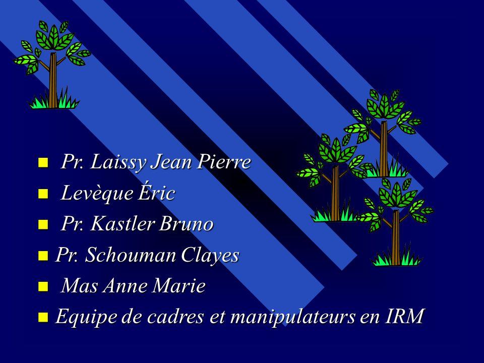 Pr. Laissy Jean Pierre Levèque Éric. Pr. Kastler Bruno.