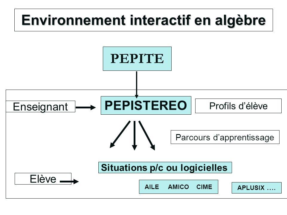 Environnement interactif en algèbre