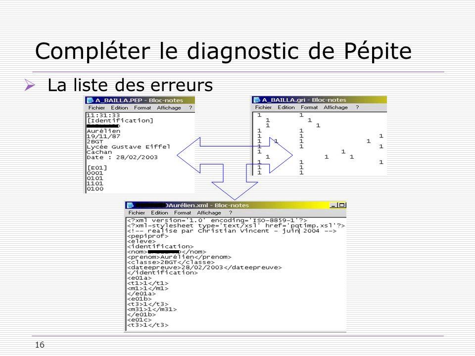 Compléter le diagnostic de Pépite