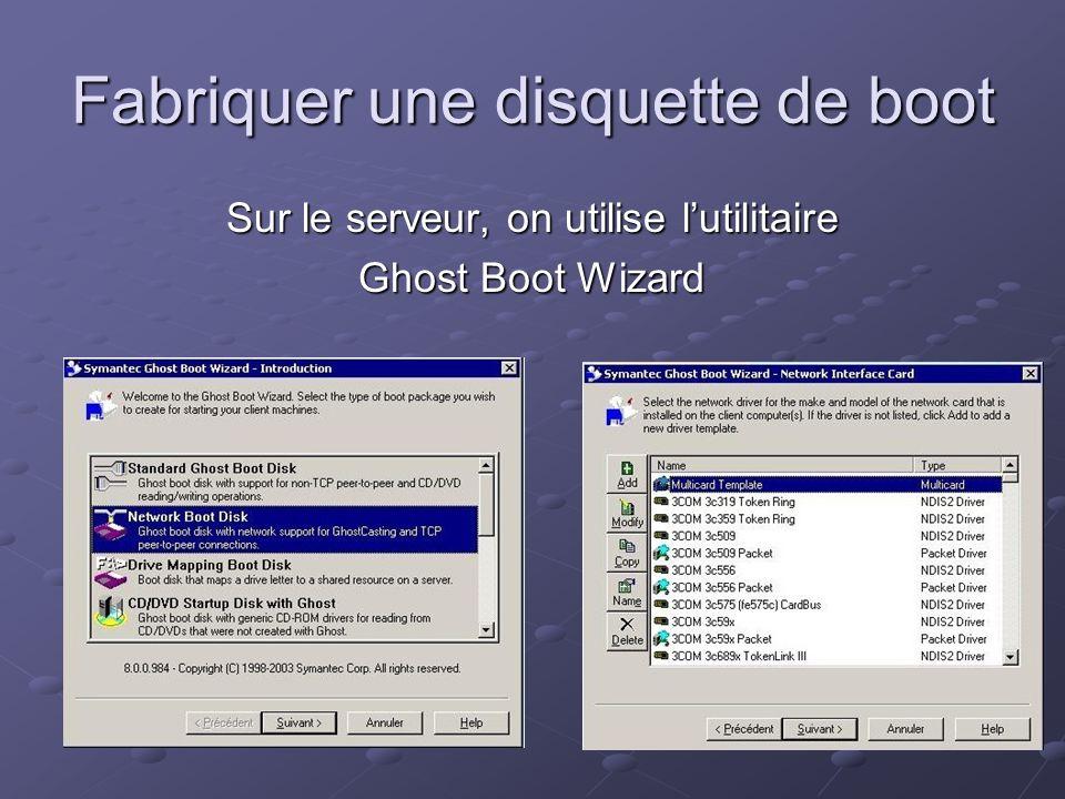 Fabriquer une disquette de boot