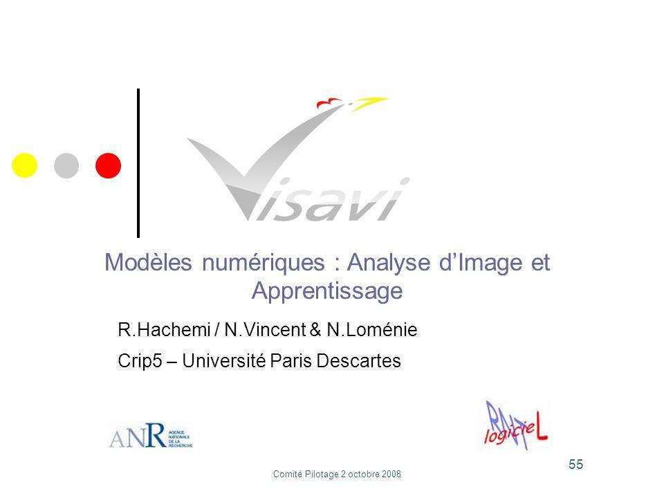 Modèles numériques : Analyse d'Image et Apprentissage