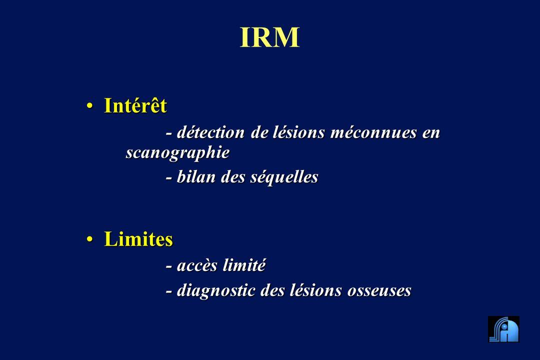 IRM Intérêt Limites - détection de lésions méconnues en scanographie