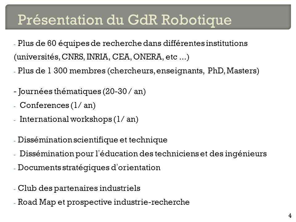 Présentation du GdR Robotique