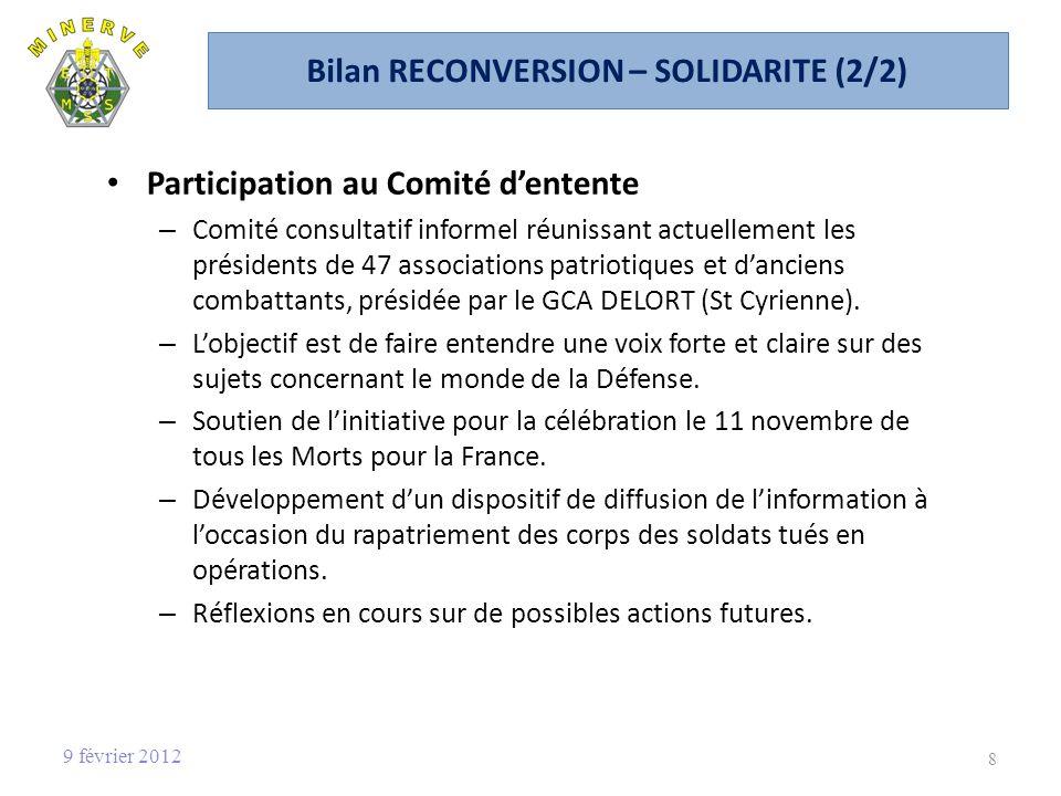 Bilan RECONVERSION – SOLIDARITE (2/2)