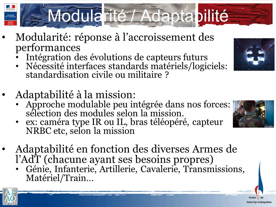 Modularité / Adaptabilité