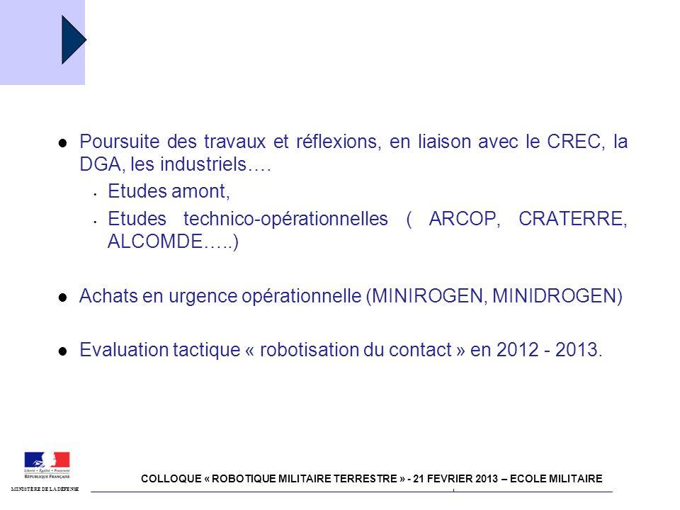 Etudes technico-opérationnelles ( ARCOP, CRATERRE, ALCOMDE…..)