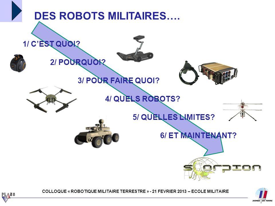 DES ROBOTS MILITAIRES….