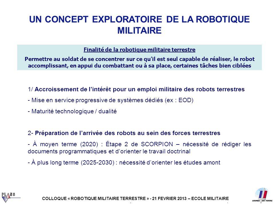 UN CONCEPT EXPLORATOIRE DE LA ROBOTIQUE MILITAIRE