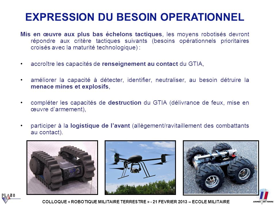 EXPRESSION DU BESOIN OPERATIONNEL