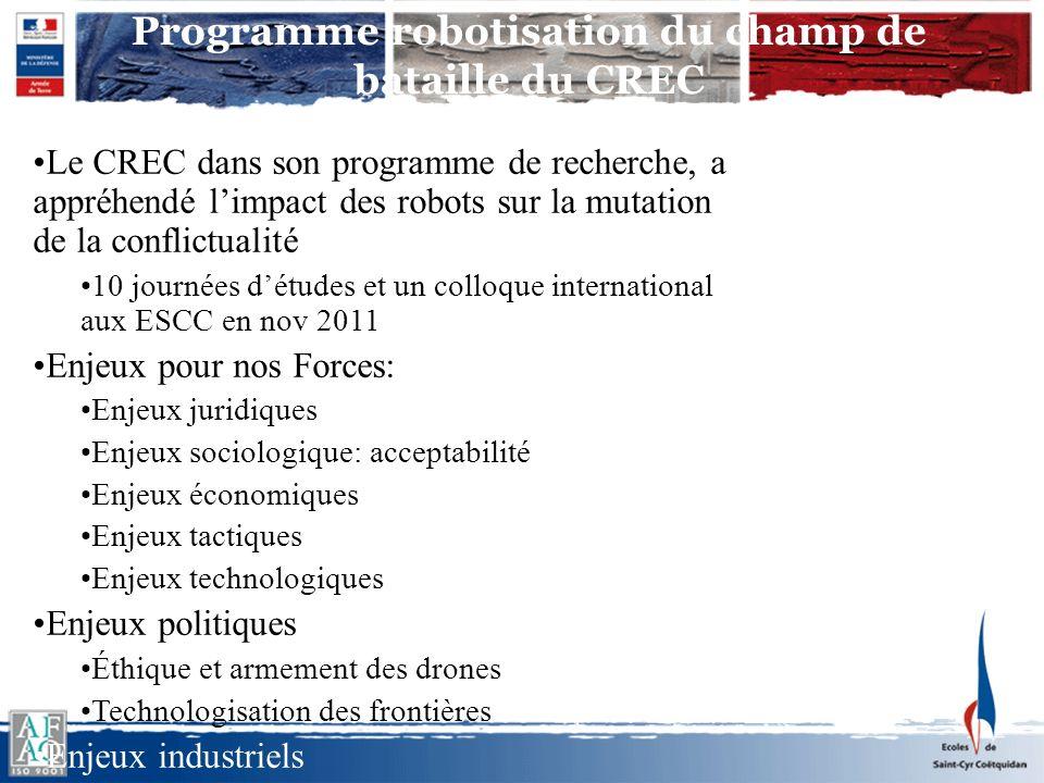 Programme robotisation du champ de bataille du CREC