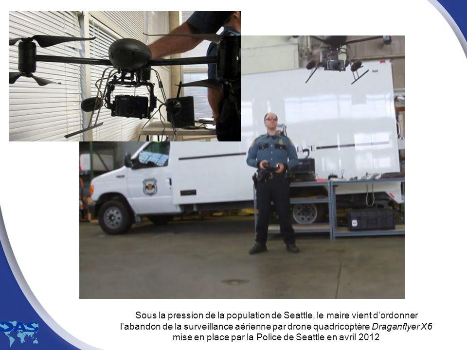 Sous la pression de la population de Seattle, le maire vient d'ordonner l'abandon de la surveillance aérienne par drone quadricoptère Draganflyer X6 mise en place par la Police de Seattle en avril 2012