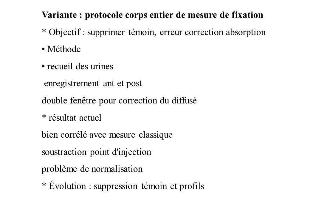 Variante : protocole corps entier de mesure de fixation