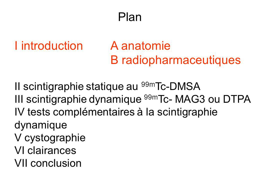 I introduction A anatomie B radiopharmaceutiques