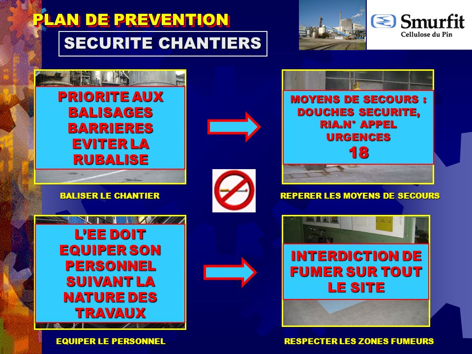 PLAN DE PREVENTION SECURITE CHANTIERS 18