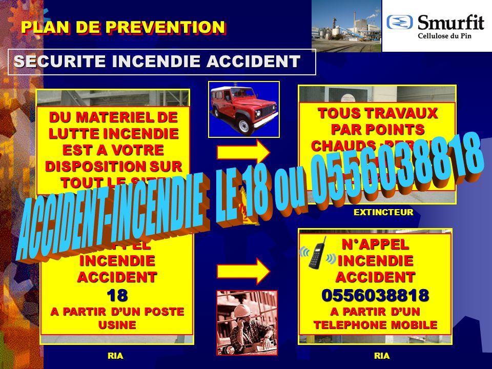 ACCIDENT-INCENDIE LE 18 ou 0556038818