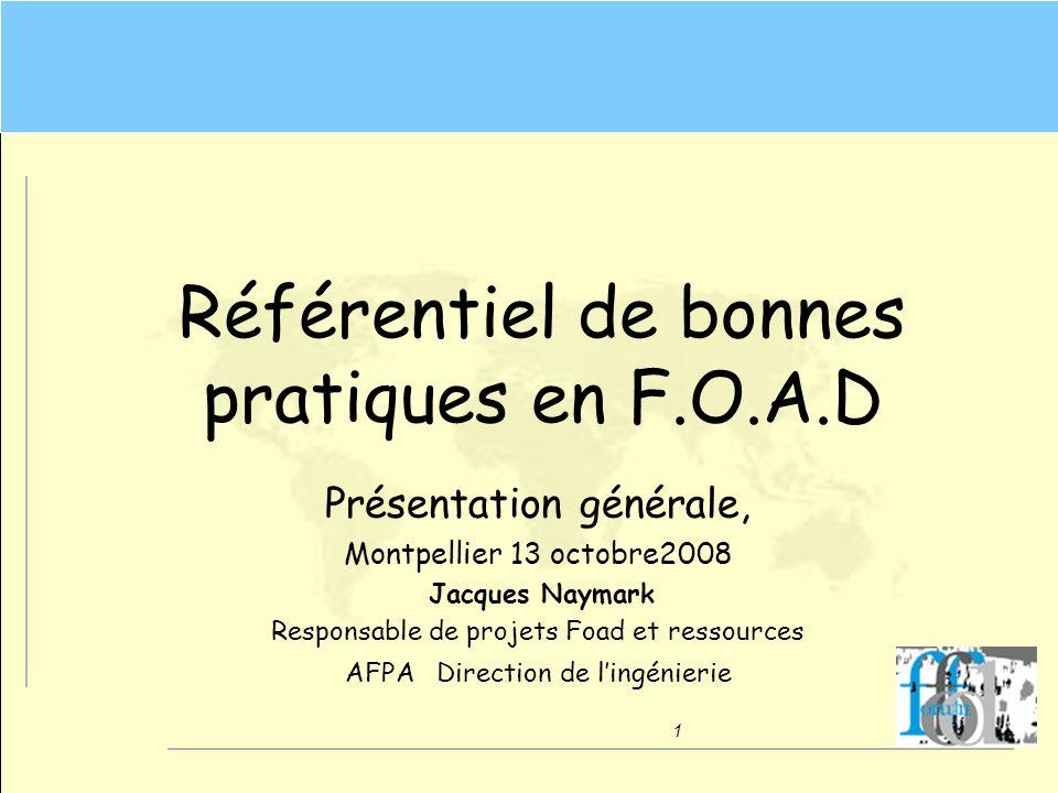 Référentiel de bonnes pratiques en F.O.A.D