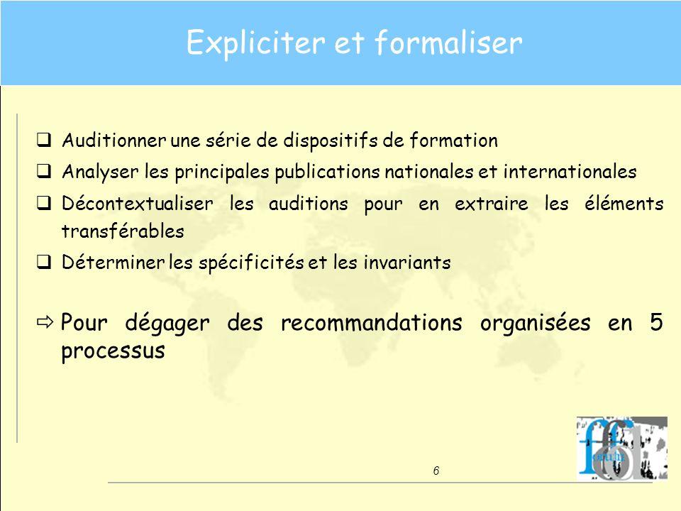 Expliciter et formaliser