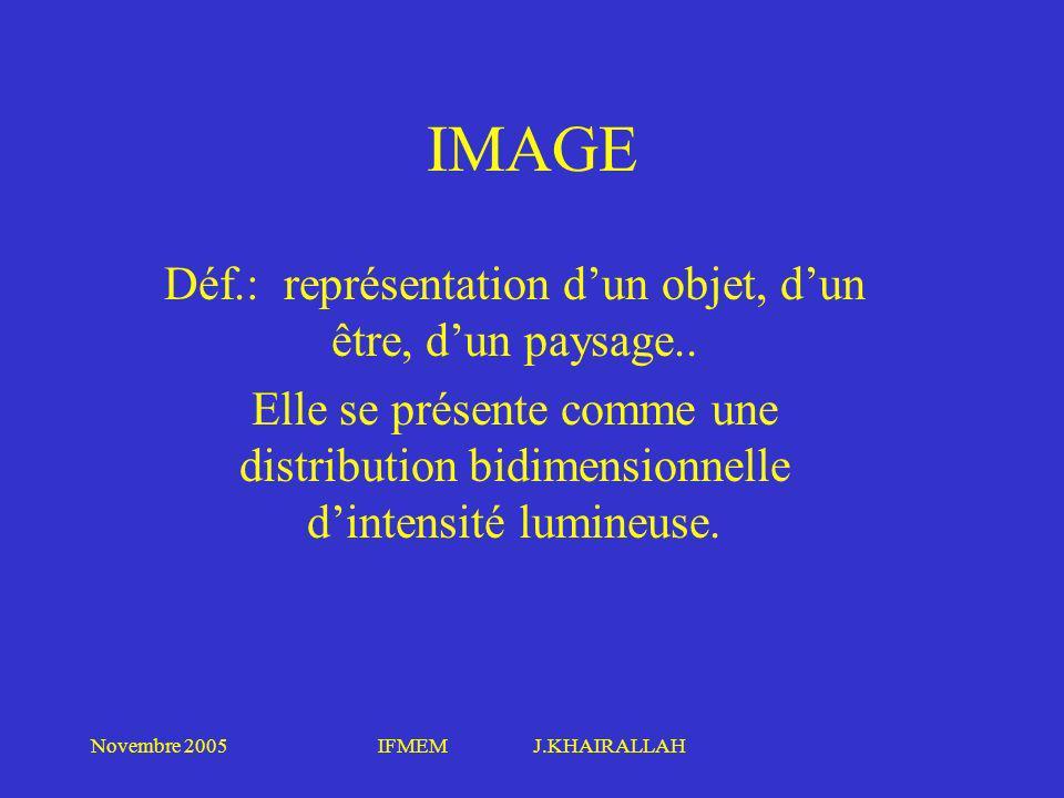 Déf.: représentation d'un objet, d'un être, d'un paysage..