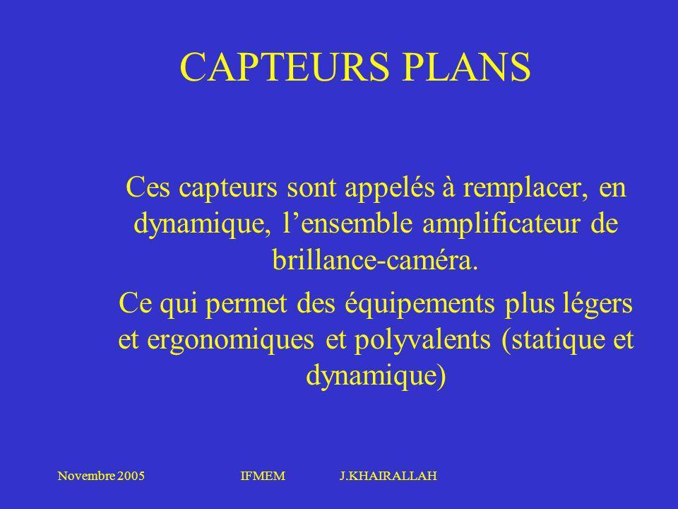 CAPTEURS PLANS Ces capteurs sont appelés à remplacer, en dynamique, l'ensemble amplificateur de brillance-caméra.