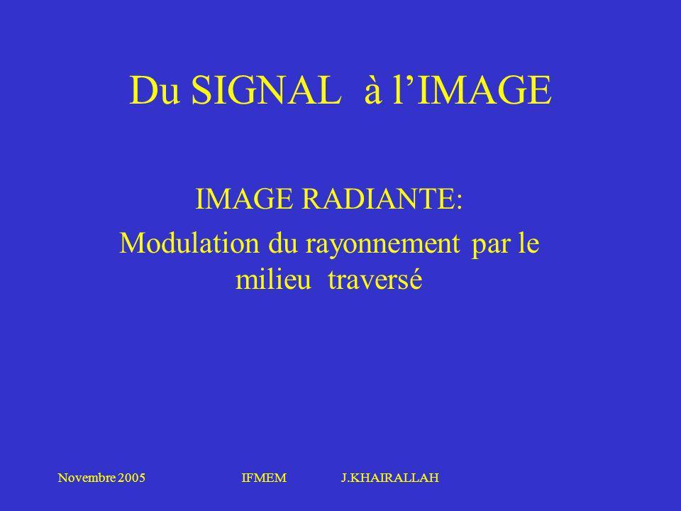 IMAGE RADIANTE: Modulation du rayonnement par le milieu traversé