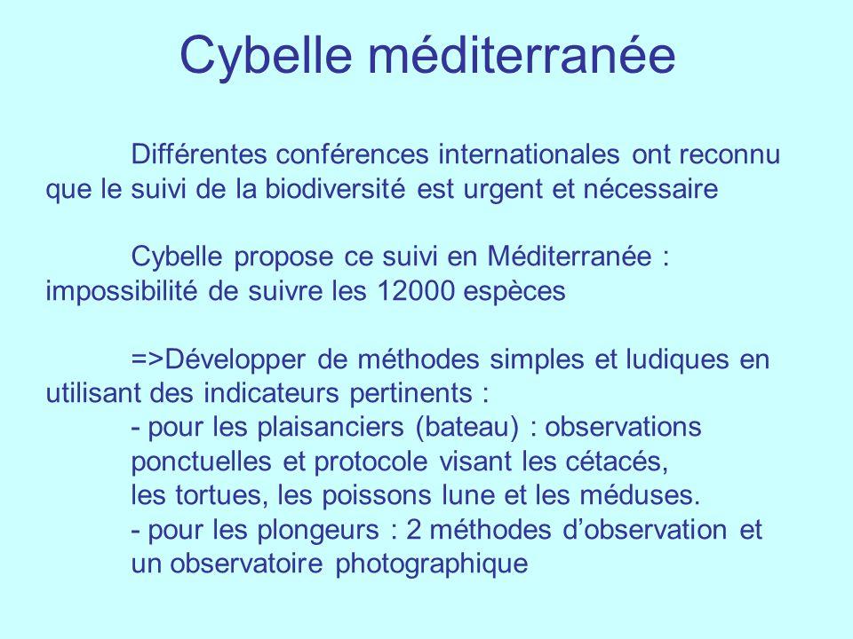 Cybelle méditerranée Différentes conférences internationales ont reconnu que le suivi de la biodiversité est urgent et nécessaire.