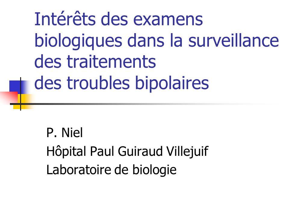 P. Niel Hôpital Paul Guiraud Villejuif Laboratoire de biologie