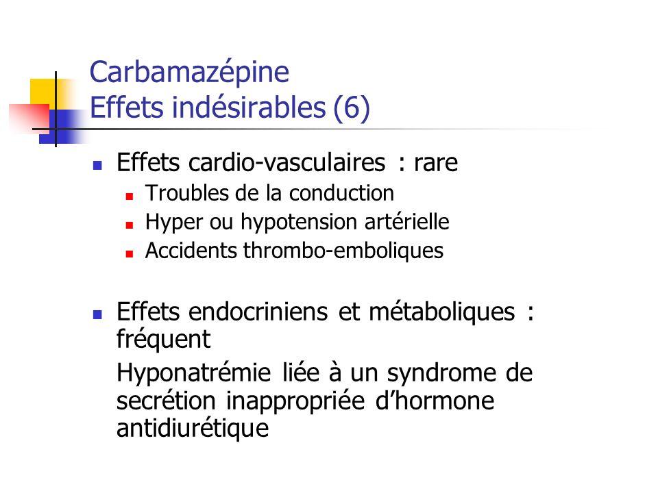 Carbamazépine Effets indésirables (6)