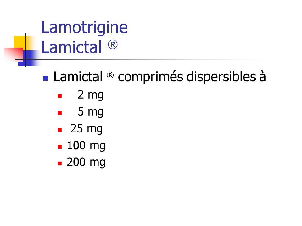 Lamotrigine Lamictal ®