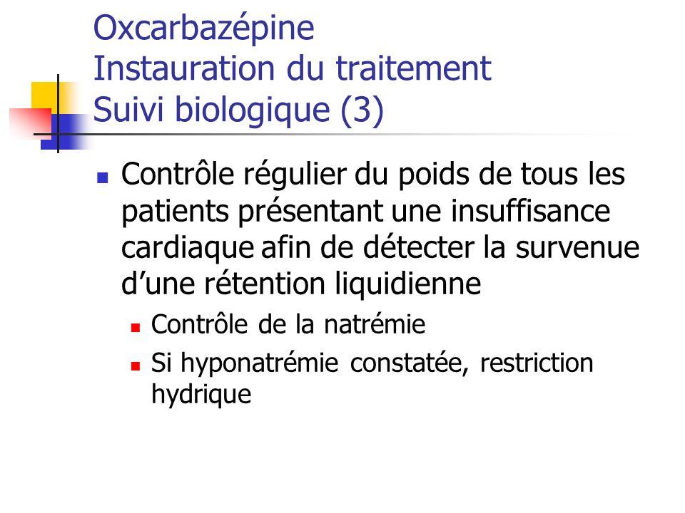 Oxcarbazépine Instauration du traitement Suivi biologique (3)