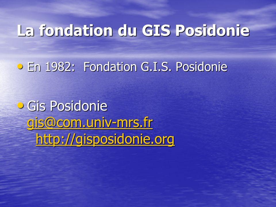 La fondation du GIS Posidonie