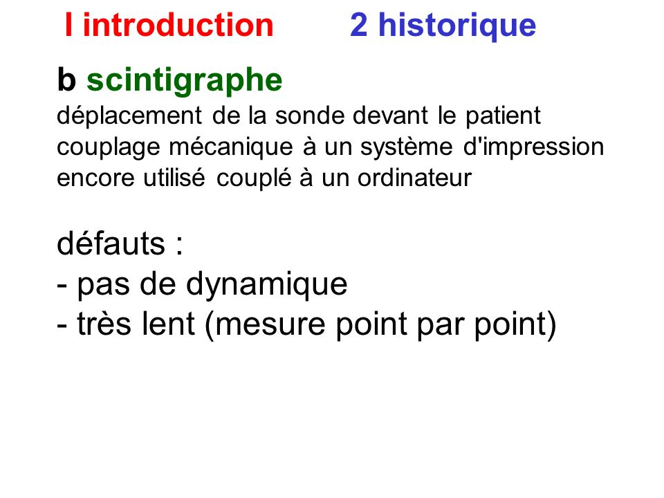 I introduction 2 historique