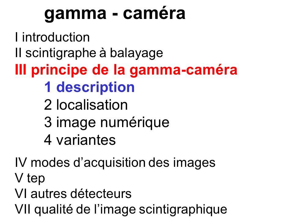 III principe de la gamma-caméra 1 description 2 localisation