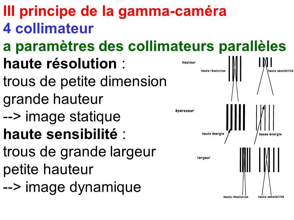 III principe de la gamma-caméra