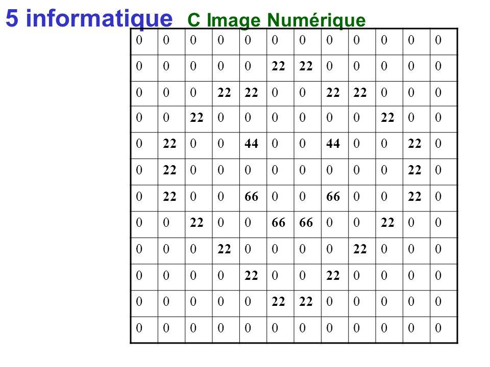 5 informatique C Image Numérique