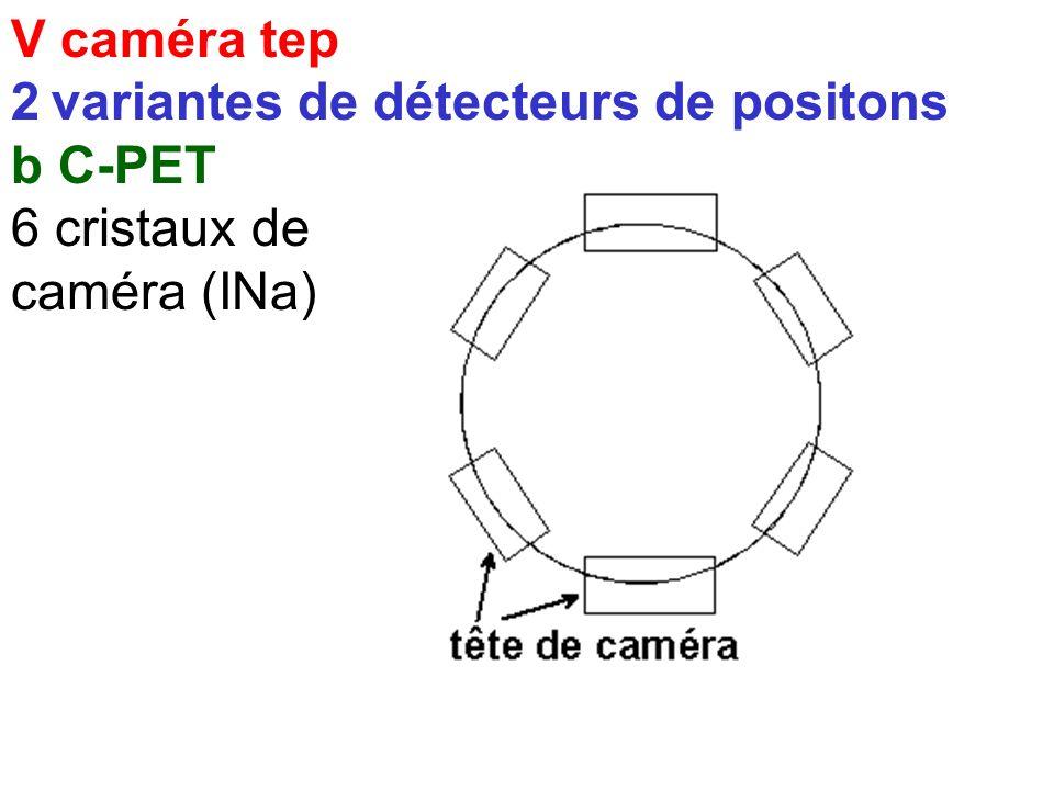 V caméra tep 2 variantes de détecteurs de positons b C-PET 6 cristaux de caméra (INa)