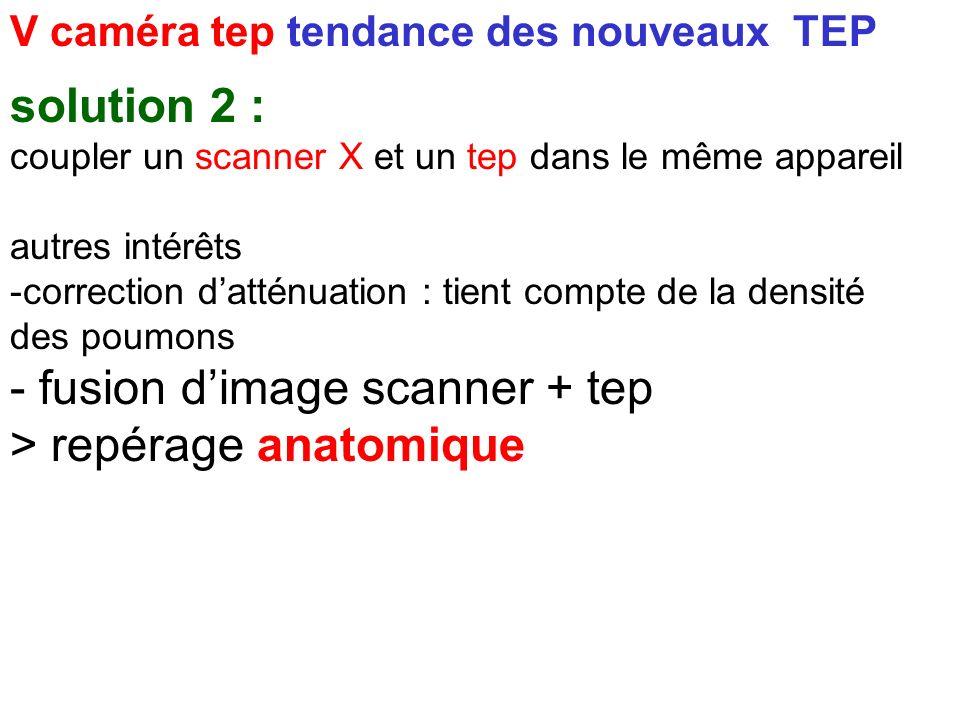 - fusion d'image scanner + tep > repérage anatomique