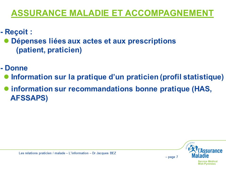 ASSURANCE MALADIE ET ACCOMPAGNEMENT