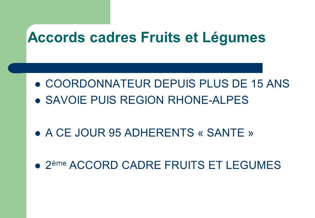 Accords cadres Fruits et Légumes