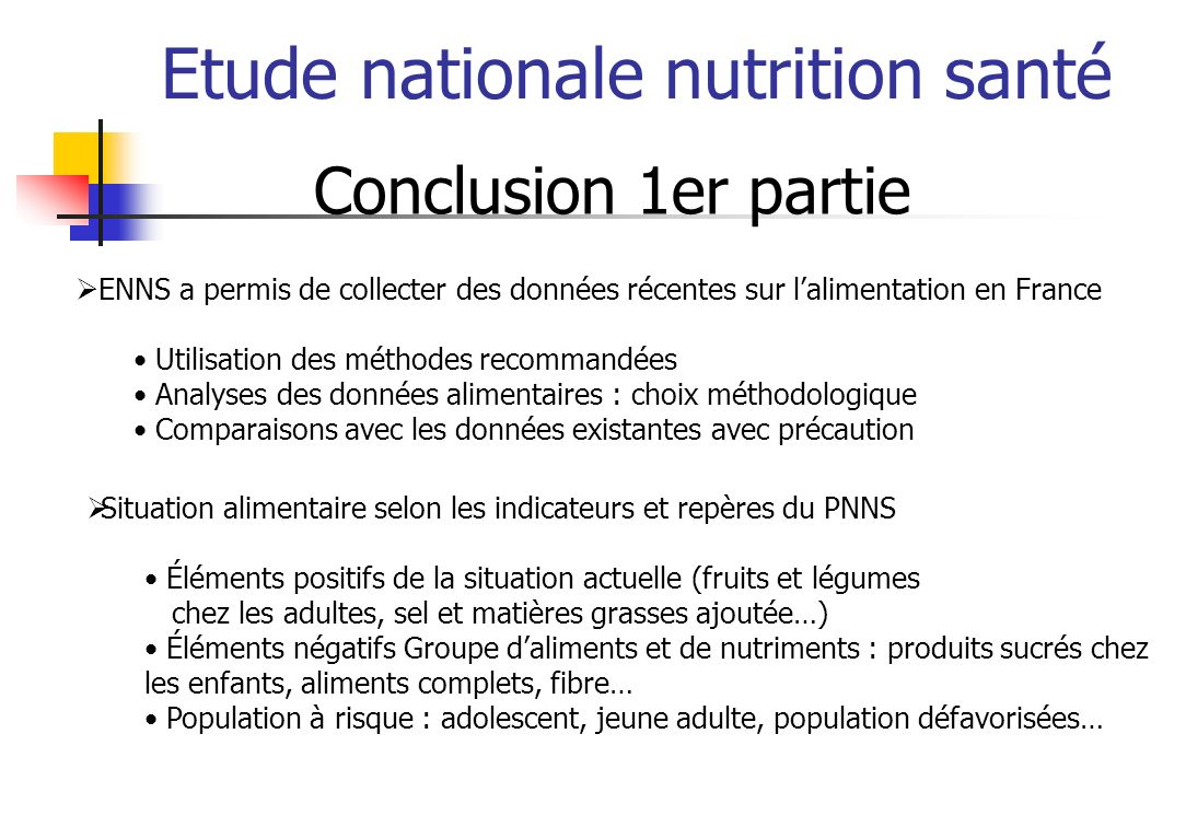 Etude nationale nutrition santé