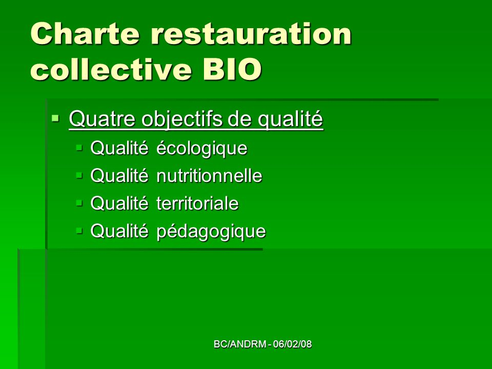 Charte restauration collective BIO