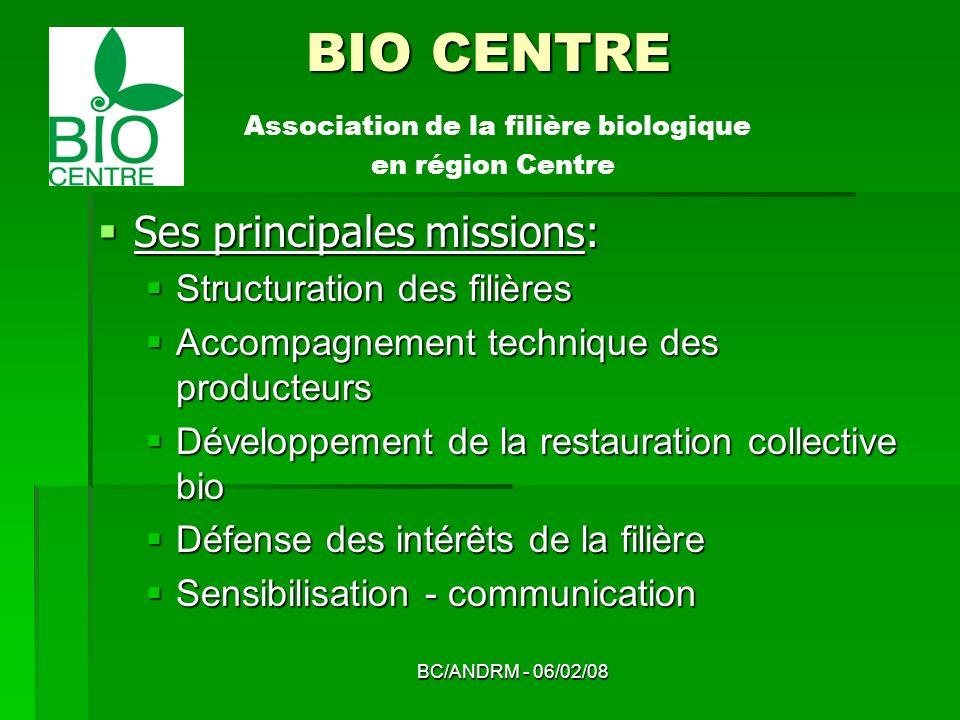 BIO CENTRE Association de la filière biologique en région Centre