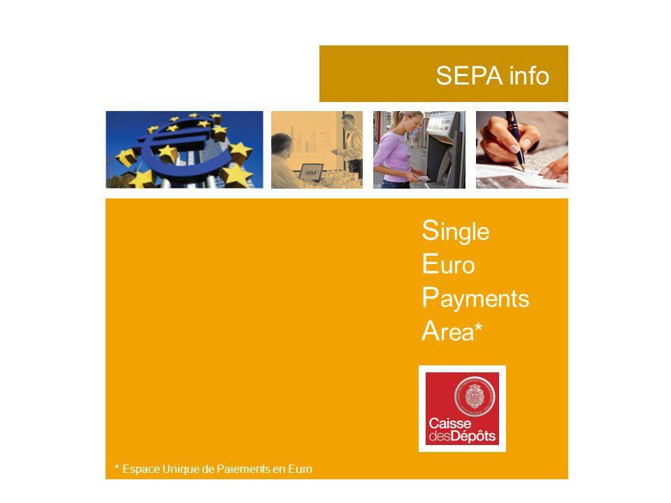 Single Euro Payments Area* SEPA info