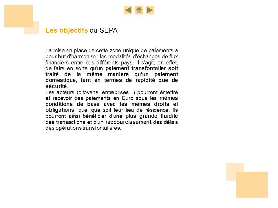 Les objectifs du SEPA