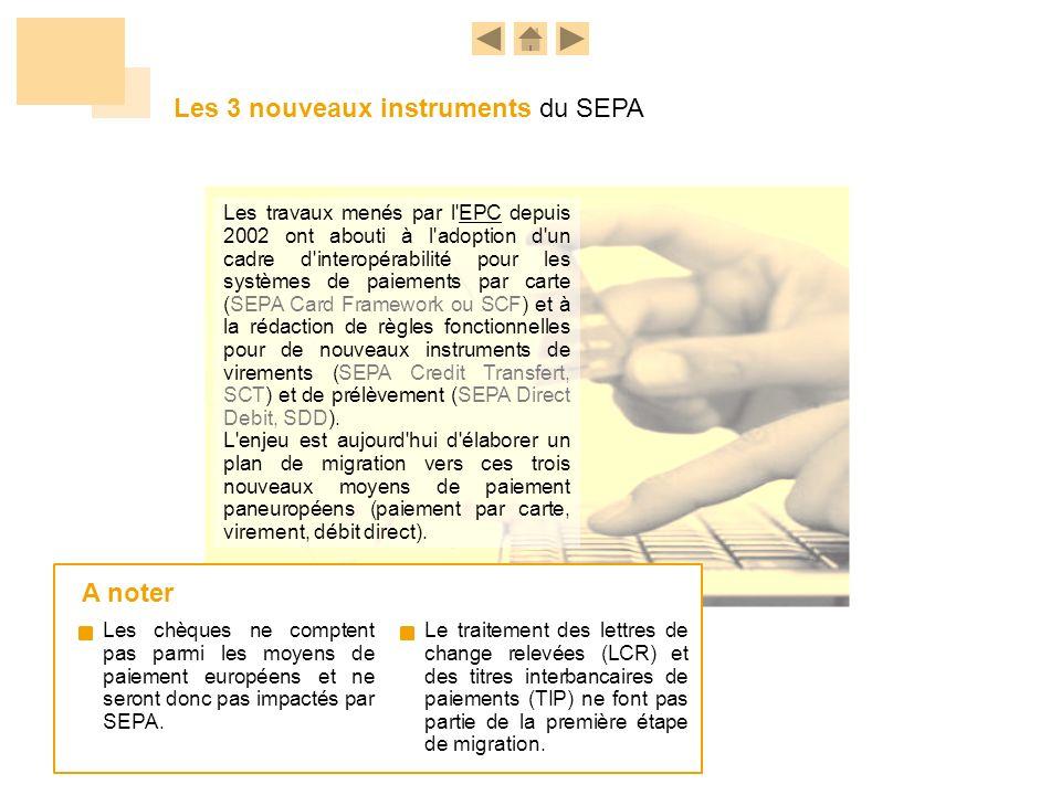 Les 3 nouveaux instruments du SEPA