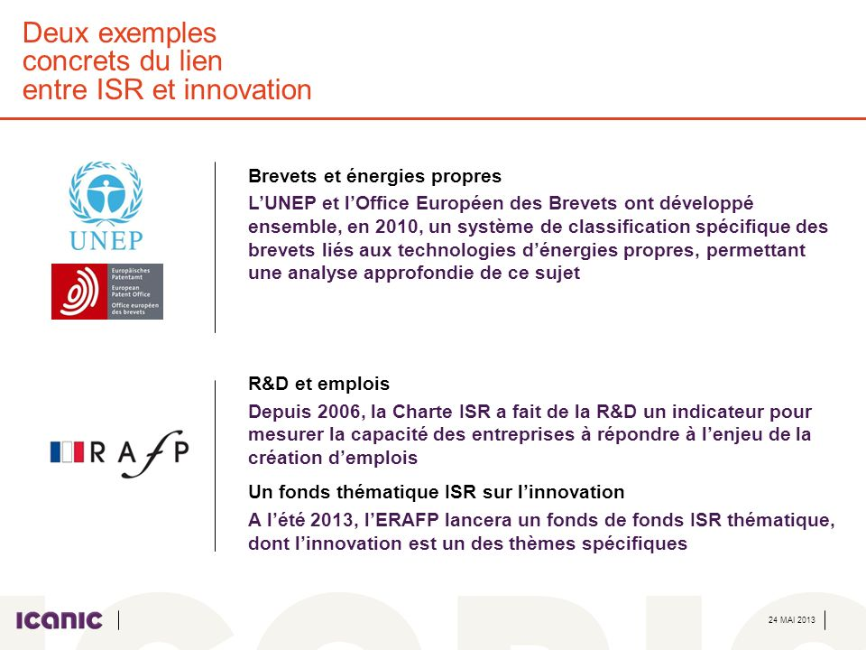 Deux exemples concrets du lien entre ISR et innovation