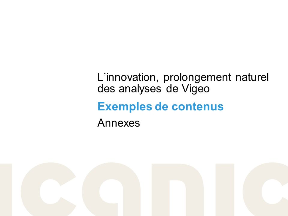 L'innovation, prolongement naturel des analyses de Vigeo