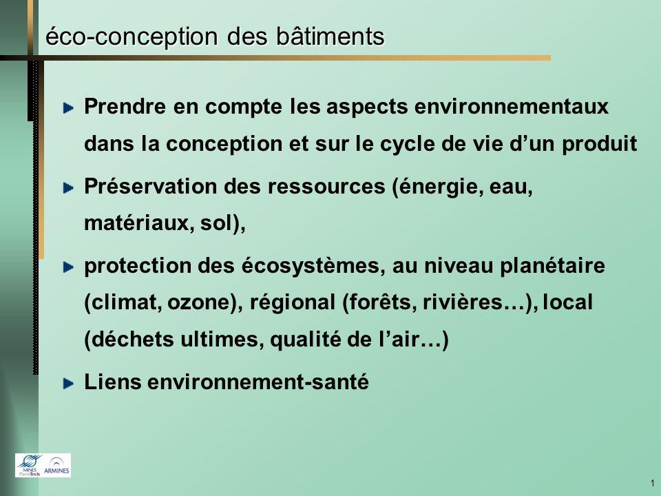 éco-conception des bâtiments