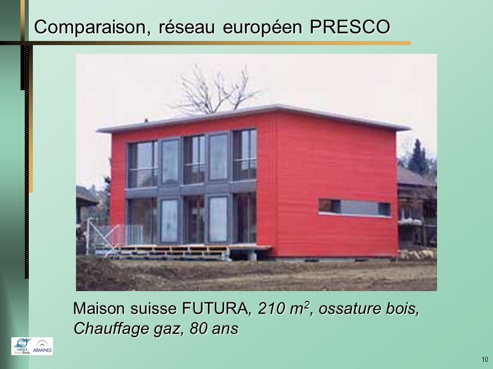 Comparaison, réseau européen PRESCO