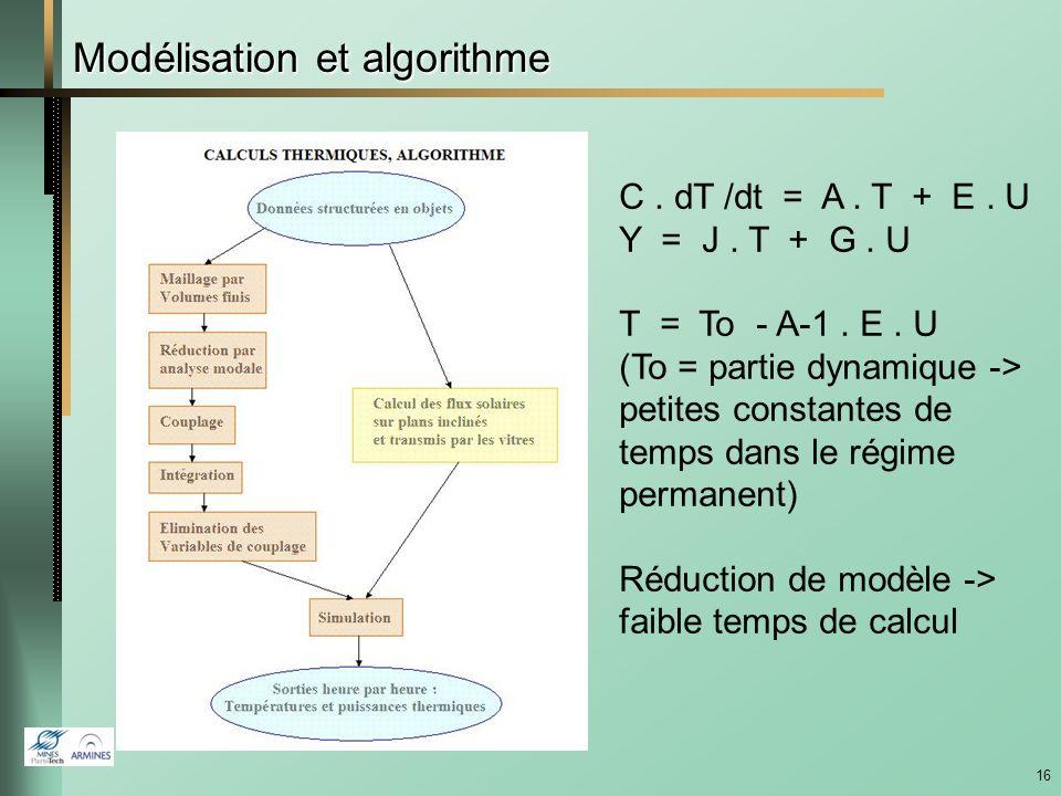 Modélisation et algorithme
